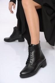 ShoesTime Bakancs PNC-19K_522_SIYAH_DERI Fekete