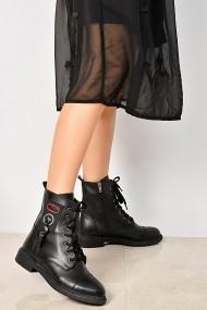 ShoesTime Bakancs PNC-19K_541_SIYAH_DERI Fekete