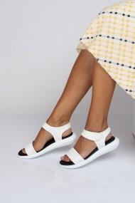 Sandale plate ShoesTime 19Y 129 Alb