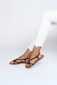 Sandale plate ShoesTime 19Y 306 Negru