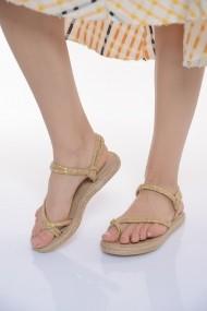 Sandale plate ShoesTime 19Y 8722 Auriu