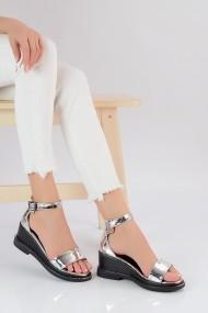 Sandale plate ShoesTime 19Y 930 Argintiu