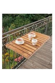 Masa din lemn, pliabila, pentru balcon Angele Home 2138 Maro