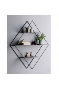 Biblbioteca metalica pentru perete Angele Home 5013 Negru