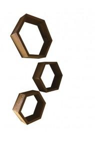 Corpuri decorative hexagon pentru perete Angele Home 5087 Maro