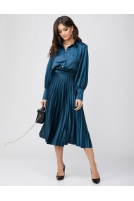 Set fusta midi si camasa Rhizome KASIA Blue