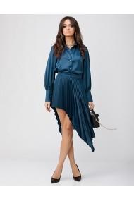 Set fusta asimetrica si camasa Rhizome KASIA Blue