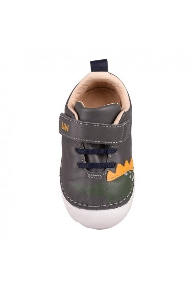 Pantofi Baieti BIBI Grow Gri Dinozaur