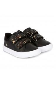 Pantofi Fete Bibi Agility Mini Negri-Glitter