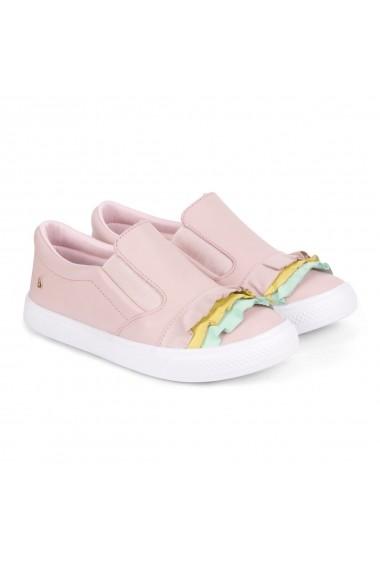 Pantofi Fete Bibi Agility Roz Cu Volane