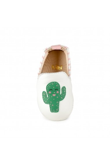 Pantofi Fetite Bibi Afeto New Albi-Cactus
