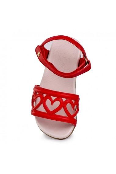 Sandale fetite BIBI Baby Birk Inimioare Rosii