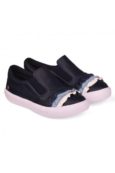 Pantofi Sport Fete Bibi Agility Naval Cu Volane