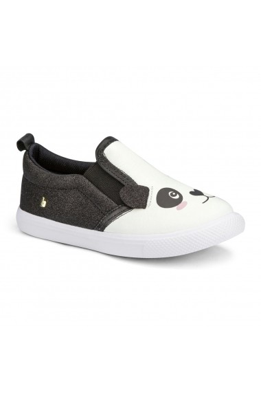Pantofi BIBI Agility Mini Albi/negru Glitter Panda