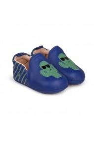 Pantofi Baietei Bibi Afeto New Albastru-Cactus