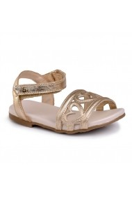 Sandale fetite BIBI Baby Birk Inimioare Aurii