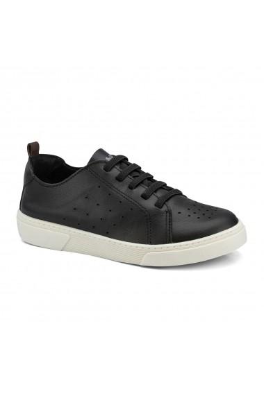 Pantofi Baieti Bibi On Way Black Cu Siret Elastic