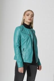 Jacheta din piele IPARELDE IPAWZ36 Turcoaz