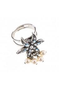 Inel Magnolia placat cu argint 925 - 7165-1341SP