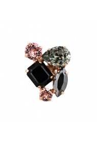 Inel Black Velvet placat cu aur 24K - 7402-1073RG