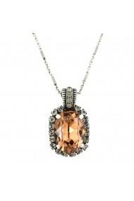 Pandantiv cu lant Champagne and Caviar placat cu argint 925 - 5522/5-391100SP