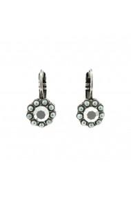 Cercei Gardenia placati cu argint 925 - 1379-1328SP6