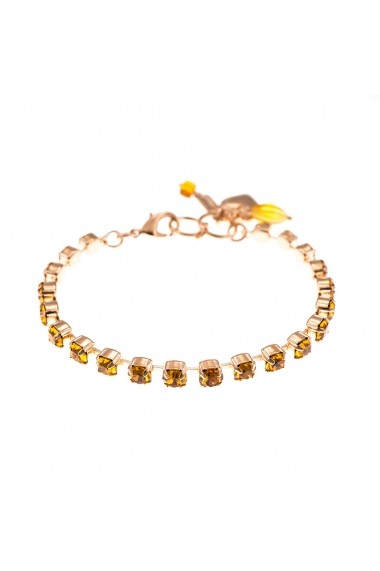 Bratara November Lucky Birthstone - The Color of Your Life placata cu aur 24K - 4000-203203RG