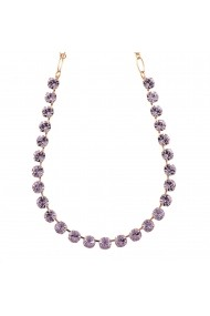 Colier Violet placat cu aur 24K - 3252-371371RG