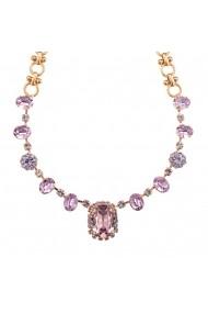 Colier Violet placat cu aur 24K - 3090/5-371371RG