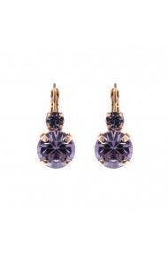 Cercei Violet placati cu aur 24K - 1037-371371RG6