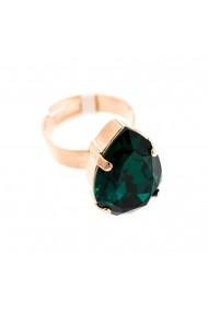 Inel Emerald placat cu aur 24K - 7098/5-205RG