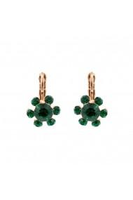 Cercei Emerald placati cu aur 24K - 1090/3-205205RG6