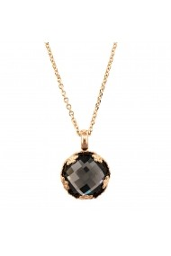 Pandantiv cu lant Black Diamond placat cu aur 24K - 5323/2-215ARG