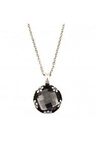 Pandantiv cu lant Black Diamond placat cu argint 925 - 5323/2-215ASP