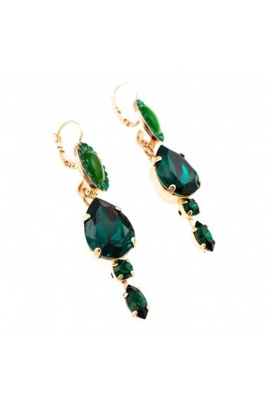 Cercei Emerald placati cu aur 24K - 1130252-205205RG6