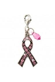 Charm simbol ''Luptam Impotriva Cancerului'' placat cu argint 925 - 6255-223SP