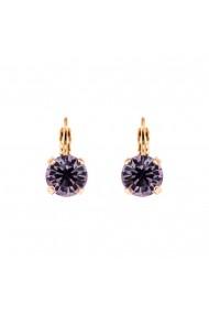 Cercei Violet placati cu aur 24K - 1440-371RG6