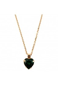Pandantiv cu lant Emerald placat cu aur 24K - 5100/3-205RG