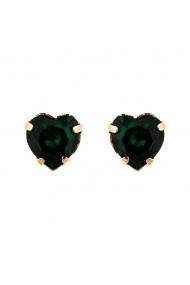 Cercei Emerald placati cu aur 24K - 1100/2-205RG2