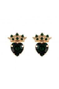 Cercei Emerald placati cu aur 24K - 1543-205205RG2