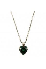Pandantiv cu lant Emerald placat cu rodiu - 5100/3-205RO