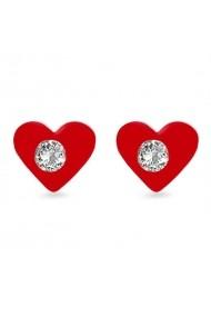 Cercei Argint 925 pentru copii Sparkling Red Heart