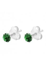Cercei Argint 925 pentru copii Crystals for Girls - Emerald