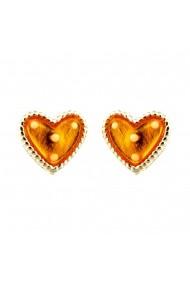 Cercei Argint 925 pentru copii Heart & Dots - Yellow