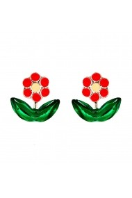 Cercei Argint 925 pentru copii Little Garden Flower - Fuchsia
