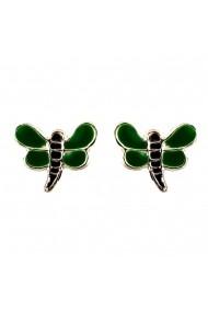 Cercei Argint 925 pentru copii Green Dragon-Fly