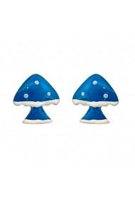 Cercei Argint 925 pentru copii Fairy Tale Blue Mushroom
