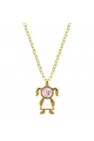 Colier placat cu aur - The Precious Little Girl si piatra semipretioasa Ametist