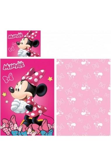 Lenjerie de pat Disney Minnie cu 2 fete 140x200 cm - 70x90 cm