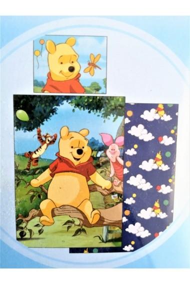 Lenjerie de pat Disney Winnie the Pooh 140x200 cm - 70x90 cm